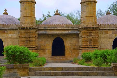 Outer view of Sahar ki masjid. Stock Photo