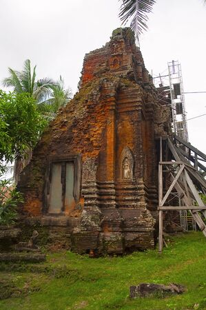 Restoration work of temple, Siem Reap, Cambodia