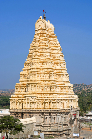 Gopuram of Virupaksha temple, Hampi, Karnataka India