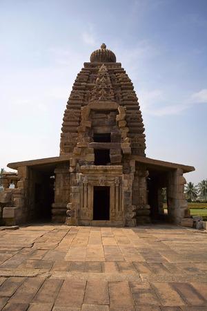 Galaganatha Temple front fa ade, Pattadakal, Karnataka India
