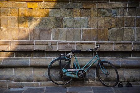 Cycle parked at Sarangapani Temple, Kumbakonam, Tamil Nadu state of India