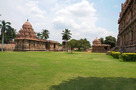 Amman temple of goddess Brihannayaki, Brihadisvara Temple complex, Gangaikondacholapuram, Tamil Nadu, India. View from South West.