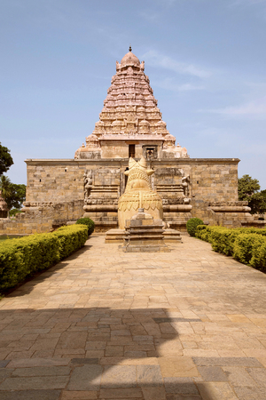 Brihadisvara Temple, Gangaikondacholapuram, Tamil Nadu, India View from East Stock Photo