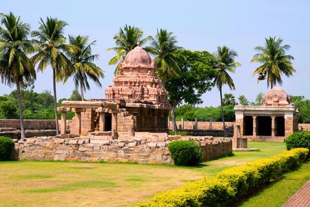 Tenkailasa shrine and Ganeshsa shrine, Brihadisvara Temple complex, Gangaikondacholapuram, Tamil Nadu, India. View from South East.