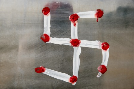 Swastik, the word swastika comes from the Sanskrit svastika, which means good fortune or well being, Tamil Nadu, India