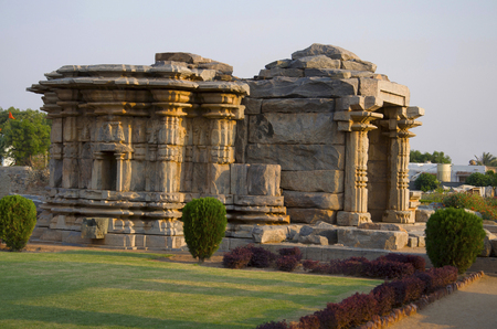The Mahadeva Temple, was built circa 1112 CE by Mahadeva, a commander in the army of the Western Chalukya King Vikramaditya VI, it a good example of complete Western Chalukyan art, Itagi, India