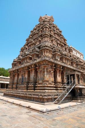 Airavatesvara Temple, Darasuram, Tamil Nadu, India View from South West Stock Photo
