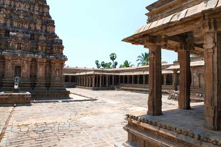 Cloisters and mandapas, Airavatesvara Temple complex, Darasuram, Tamil Nadu India