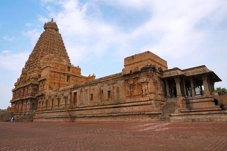 Brihadisvara Temple, Tanjore, Tamil Nadu, India View from South East