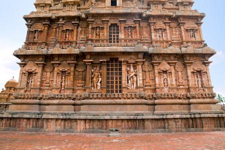 Niches on the western wall, Brihadisvara Temple, Tanjore, Tamil Nadu, India