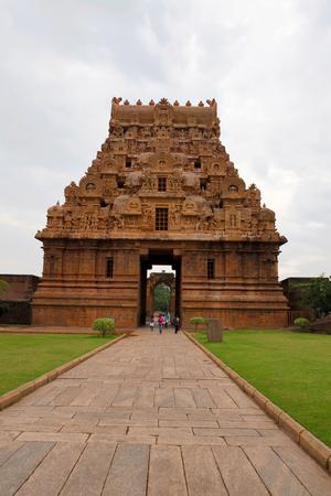 Keralantakan Tiruvasal, Second entrance gopura, Brihadisvara Temple, Tanjore, Tamil Nadu India