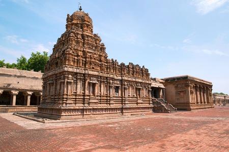 Subrahmanyam shrine, Brihadisvara Temple complex, Tanjore, Tamil Nadu, India. View from South West