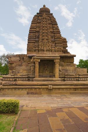 Galaganatha temple, Pattadakal temple complex, Pattadakal, Karnataka, India. Andhakasurari Siva in the southern ghanadvara