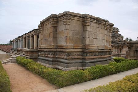 Panchakuta Basadi,or Panchakoota Basadi Kambadahalli, Mandya district, Karnataka India It is one of the finest examples of South Indian Dravidian architecture of the Western Ganga variety, related to the Jain faith and iconography. Stock Photo