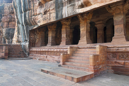 Facade Badami Caves Karnataka India