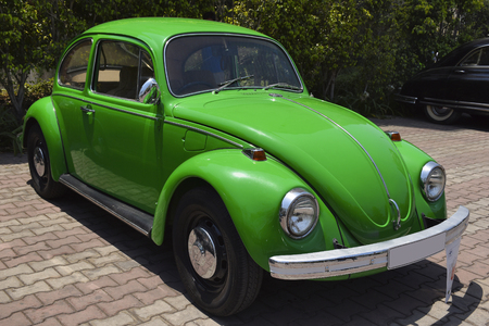KHARADI, PUNE, MAHARASHTRA, April 1, 2018, Volkswagen Beetle at VCCCI Vintage and Classic Car Rally Editorial