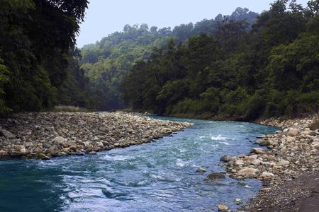Khichdi river at Corbett Tiger Reserve from Uttarakhand state of India