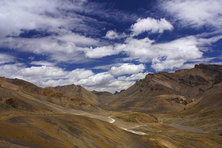 Lachulungla mountain pass along the Leh-Manali Highway, Jammu and Kashmir, India