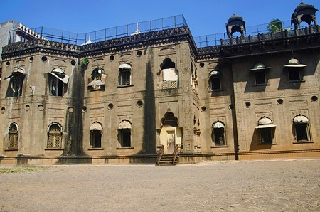 Partial view of Old Palace converted in to a school now, Kolhapur, Maharashtra.