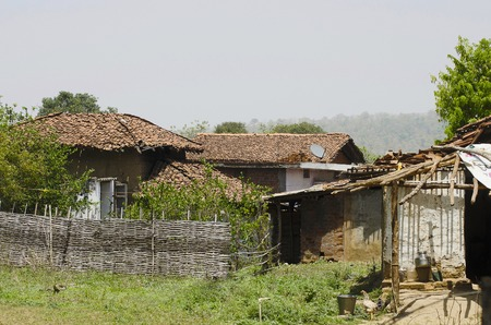 A village, Nagzira Tiger Resort, Nagzira Wild Life Sanctuary, Bhandara, Near Nagpur, Maharashtra