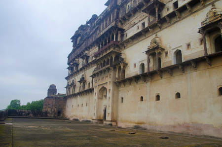 Exterior view of Datia Palace. Also known as Bir Singh Palace or Bir Singh Dev Palace. Datia. Madhya Pradesh