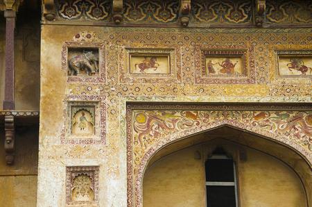 Entrance of Datia Palace. Also known as Bir Singh Palace or Bir Singh Dev Palace. Datia. Madhya Pradesh Standard-Bild