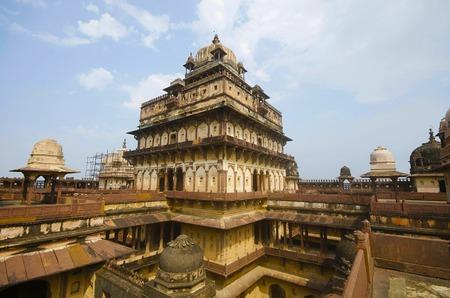 Innenansicht des Datia-Palastes. Auch bekannt als Bir Singh Palace oder Bir Singh Dev Palace. Daten. Madhya Pradesh