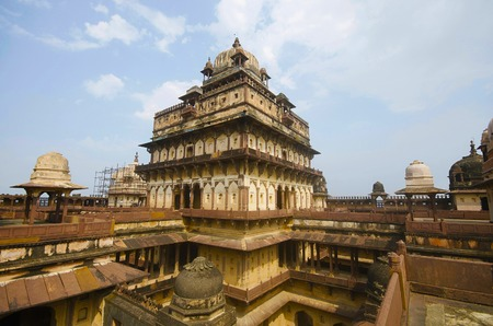 Interior view of Datia Palace. Also known as Bir Singh Palace or Bir Singh Dev Palace. Datia. Madhya Pradesh