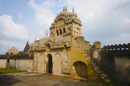 Entrance gate of a Chhatri of Maharaja Parikshat. Datia. Madhya Pradesh