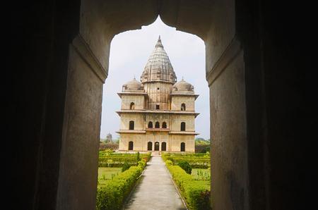 Exterior view of chhatri at Orchha. Orchha. Madhya Pradesh Reklamní fotografie