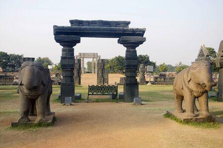 Ruins, Temple complex, Warangal fort Warangal Telangana India Stock Photo
