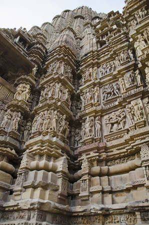 LAKSHMANA TEMPLE, North Wall - Mandapa and Sanctuary - Erotic Sculptures, Western Group, Khajuraho, Madhya Pradesh, India