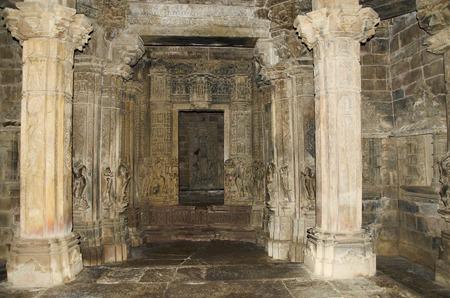 TEMPLE DE CHITRAGUPTA, Sanctum - Dieu Soleil sur Chariot, Groupe occidental, Khajuraho, Madhya Pradesh, Inde