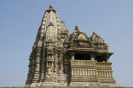 JAVARI TEMPLE, Facade - South View, Eastern Group, Khajuraho, Madhya Pradesh, India