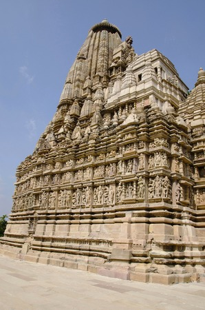 PARSVANATH TEMPLE, Facade - General View, Eastern Group, Khajuraho, Madhya Pradesh, India Imagens