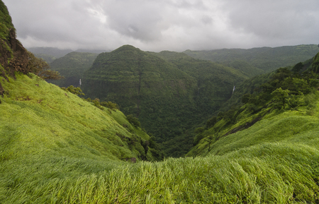 Varandha Ghats a mountain passage on the crest of the Western Ghats with scenic waterfalls, lakes and dense woods, Mahad, Maharashtra