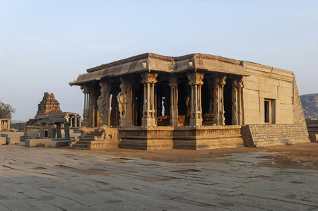 Vittala Temple with Musical Pillars at Hampi, Karnataka, India Stock Photo