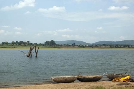Kabini backwaters with coracles, Kabini Wildlife Sanctuary, Karnataka, India