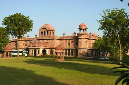 Lalgarh Palace at Bikaner, long shot, Rajasthan state of India Stock Photo - 121452981