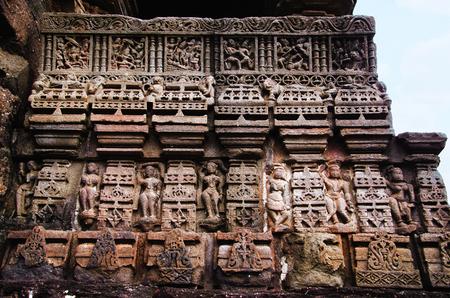 Carving details, Gondeshwar Temple, Sinnar, near Nashik, Maharashtra state of India