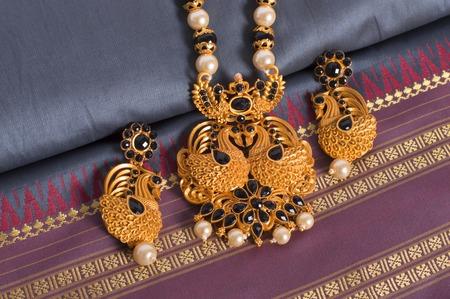 Close up of temple jewellery necklace set Reklamní fotografie