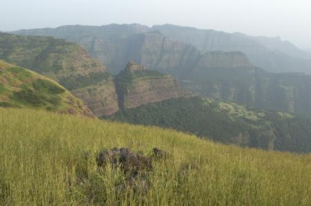 Landscape view of the beautiful Sahayadri mountain ranges of western Ghats. Reklamní fotografie