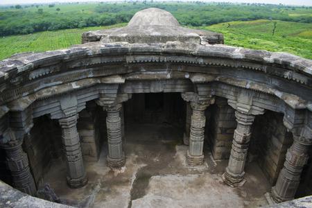 Anandeshwar temple aerial View, Lasur in Daryapur Taluka, Amravati District of Maharashtra, India. Reklamní fotografie