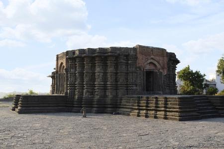 Side view of Daitya Sudan temple in Lonar, Buldhana District, Maharashtra, India.