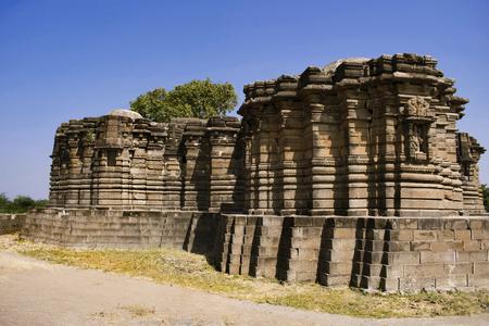 Back side view of Anandeshwar temple in Lasur, Daryapur Taluka, Amravati District, Maharashtra, India.