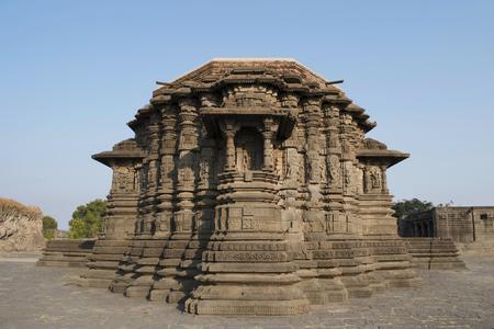 Back side view of Daitya Sudan temple of Lonar, Buldhana District, Maharashtra, India. Reklamní fotografie