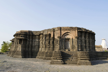 Left side view of Daitya Sudan temple of Lonar, Buldhana District, Maharashtra, India. Reklamní fotografie