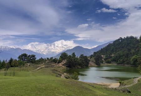 Devriya Taal or Deoria Tal lake, Garhwal, Uttarakhand, India.