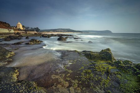 Rocky beaches at Sindhudurga in Maharashtra, India. Stock Photo