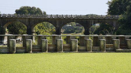 Bridge and dam over Karha river at Saswad, Pune.
